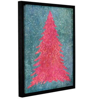 Cora Niele's ' Xmas Snow Tex 05' Gallery Wrapped Floater-framed Canvas