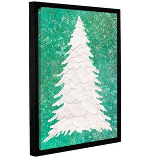 Cora Niele's ' Xmas Snow Tree 06' Gallery Wrapped Floater-framed Canvas