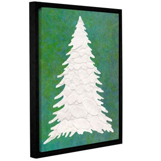 Cora Niele's ' Xmas Snow Tree 01' Gallery Wrapped Floater-framed Canvas