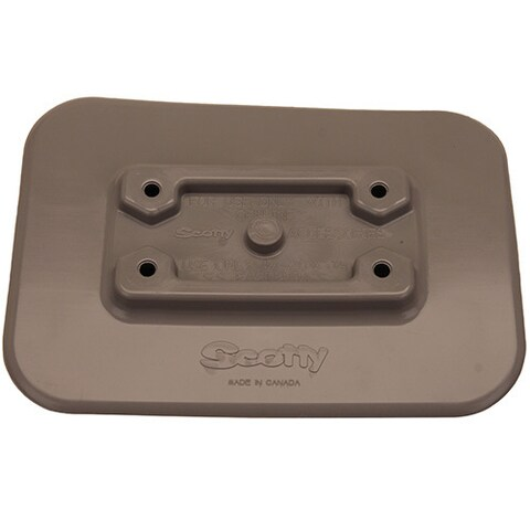 Scotty Grey PVC Glue-on Pad for Inflatable Boats