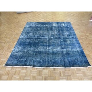 Hand Knotted Sky Blue Tabriz with Wool Oriental Rug (8'3 x 9'3)