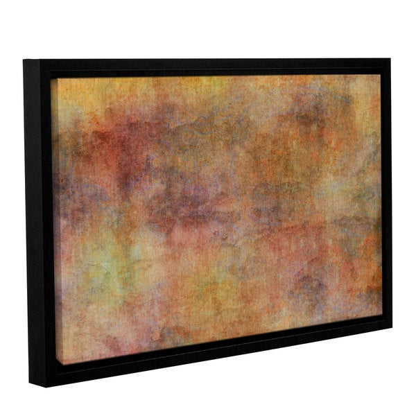 Cora Niele's ' Warm Colour Background' Gallery Wrapped Floater-framed Canvas