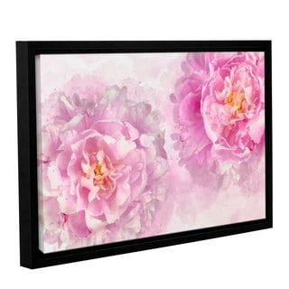 Cora Niele's ' Two Peonies 2' Gallery Wrapped Floater-framed Canvas