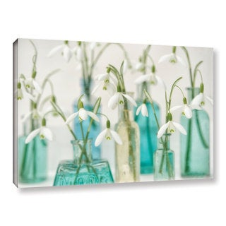 Cora Niele's ' Snowdrops Glass Bottles' Gallery Wrapped Canvas
