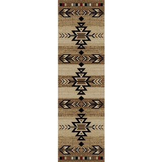 Rustic Lodge Southwestern Desert Cabin Ivory Area Rug (2'3 x 7'7)