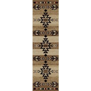 "Rustic Lodge Southwestern Desert Cabin Ivory Area Rug (2'3 x 7'7) - 2'3"" x 7'7"""