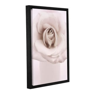Cora Niele's ' Rose Looking Up' Gallery Wrapped Floater-framed Canvas