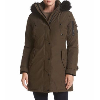 Michael Kors Brown Hooded Down Parka