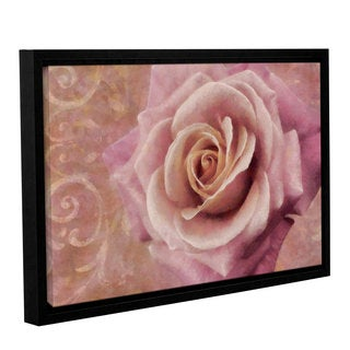 Cora Niele's ' Ornamental Rose 1' Gallery Wrapped Floater-framed Canvas