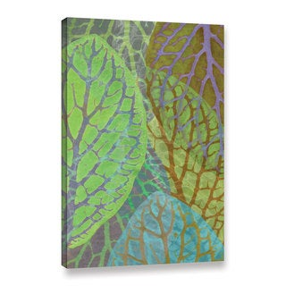Cora Niele's ' Leaf Pattern 17' Gallery Wrapped Canvas