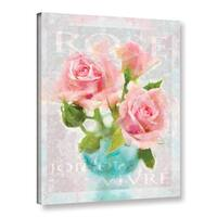 Cora Niele's ' Joie Vivre Rose' Gallery Wrapped Canvas - Rose