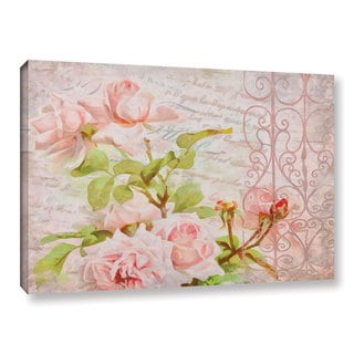 Cora Niele's ' French Roses Pink' Gallery Wrapped Canvas