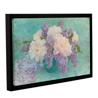 Cora Niele's ' Flower Bouquet 1' Gallery Wrapped Floater-framed Canvas