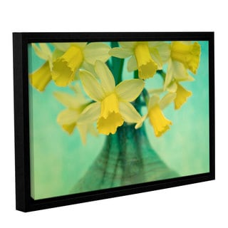 Cora Niele's ' Daffodils' Gallery Wrapped Floater-framed Canvas