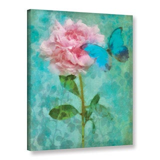 Cora Niele's ' Butterfly Rose 1' Gallery Wrapped Canvas