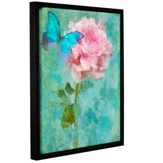 Cora Niele's ' Butterfly Rose' Gallery Wrapped Floater-framed Canvas