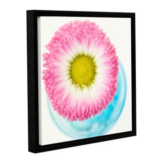 Cora Niele's ' Pink Edge 2' Gallery Wrapped Floater-framed Canvas
