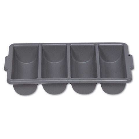 Rubbermaid Commercial Cutlery Bin 4 Compartments Plastic Grey