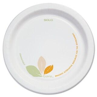 SOLO Cup Company Bare Paper Eco-Forward Dinnerware 6-inch Plate Green/Tan 500/Carton