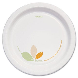SOLO Cup Company Bare Paper Eco-Forward Dinnerware 8 1/2 inches Plate Green/Tan 250/Carton