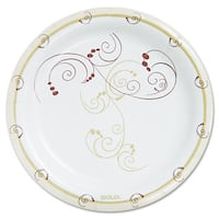 """SOLO Cup Company Symphony Paper Dinnerware Heavyweight Plate 9"""" Tan 125/Pack"""