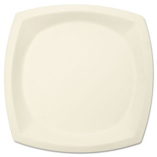 SOLO Cup Company Bare Eco-Forward Sugarcane Plate Perfect Pak 10 inches dia Ivory 125/Pack