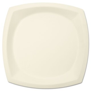 SOLO Cup Company Bare Eco-Forward Sugarcane Plate Perfect Pak 10-inch Diameter Ivory 125/Pack