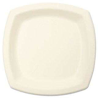 SOLO Cup Company Bare Eco-Forward Sugarcane Dinnerware Perfect Pak 6 7/10 inches Plate Ivory 125/Pack