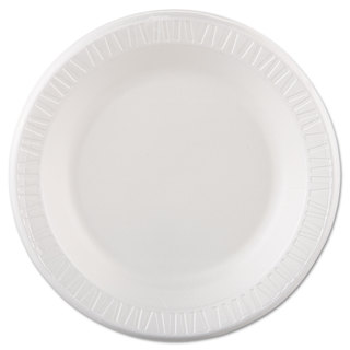 Dart Quiet Classic Laminated Foam Dinnerware Plate 10 1/4-inch White 125/Pack 4 Pks/Case