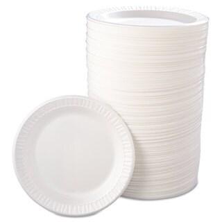 Dart Quiet Classic Laminated Foam Dinnerware Plate 9-inch diameter wide 125/Pack 4 Packs/Carton