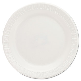 Dart Quiet Classic Laminated Foam Dinnerware Plates 6 Inches White Round 125/Pack
