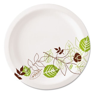 Dixie Pathways Soak-Proof Shield Mediumweight Paper Plates 6 7/8-inch Grn/Burg 1000/Carton