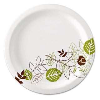 Dixie Pathways Soak-Proof Shield Mediumweight Paper Plates 6 7/8-inch Grn/Burg 500/Carton