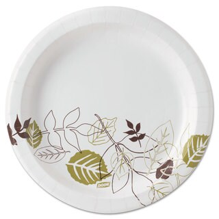 Dixie Pathways Soak-Proof Shield Mediumweight Paper Plates 8 1/2-inch Grn/Burg 1000/Carton