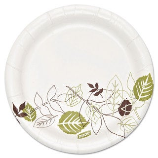 Dixie ULettera Pathways Soak Proof Shield Heavyweight Paper Plates 5 7/8 inches 500/Carton