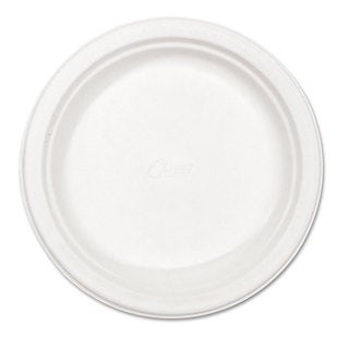 Chinet Classic Paper Plates 8 3/4 inches dia White 125/Pack
