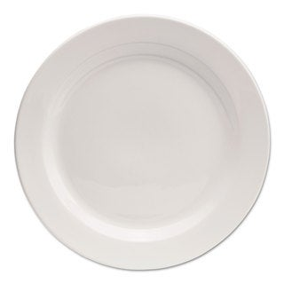 Office Settings Chef's Table Porcelain Round Dinnerware Dinner Plate 10-inch Diameter White 8/Box