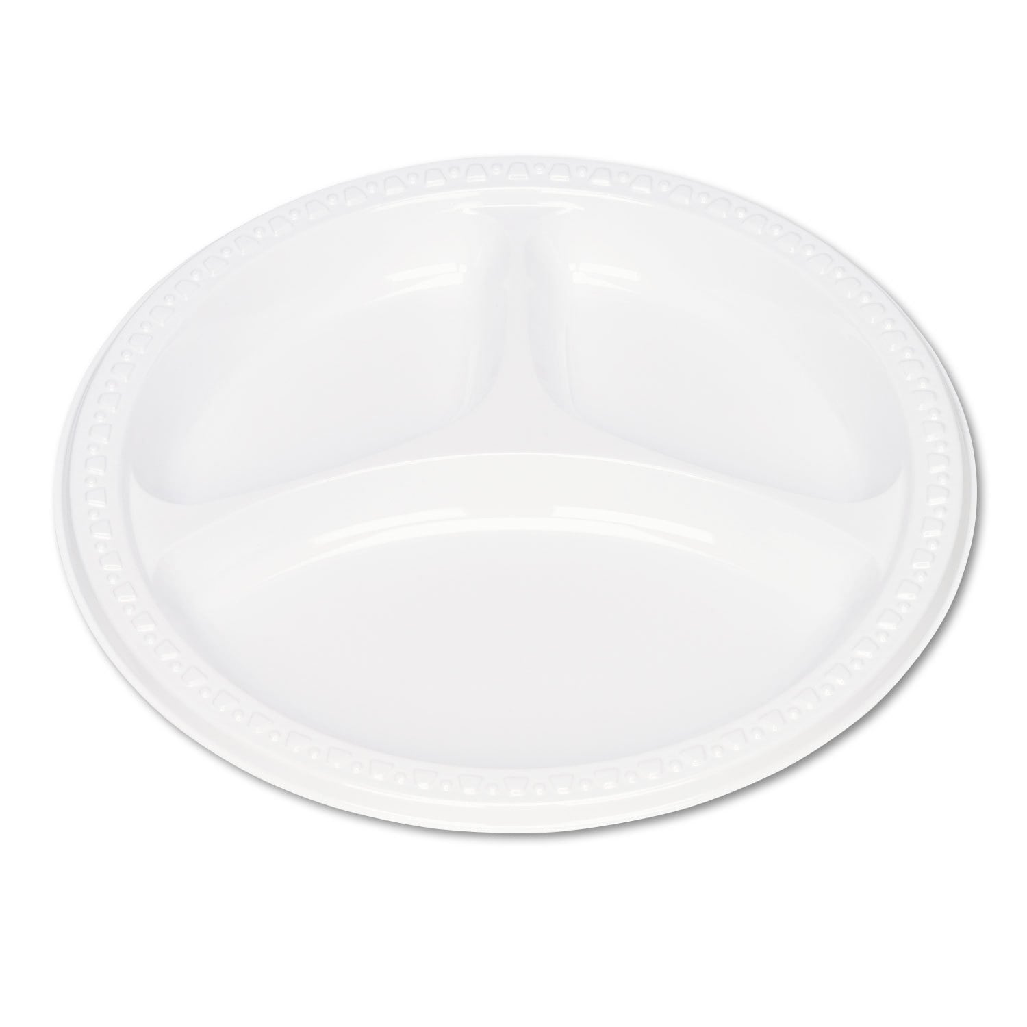 Tablemate Plastic Dinnerware Compartment Plates 9 inches ...