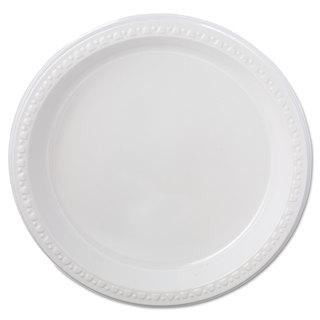 Chinet Heavyweight Plastic Plates 9-inch Diameter White 125/Pack 4 Packs/Carton