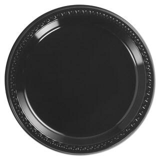 Chinet Heavyweight Plastic Plates 9-inch Diamter Black 125/Pack 4 Packs/Carton