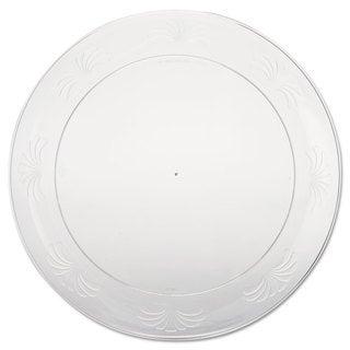 WNA Designerware Plastic Plates 9 Inches Clear Round