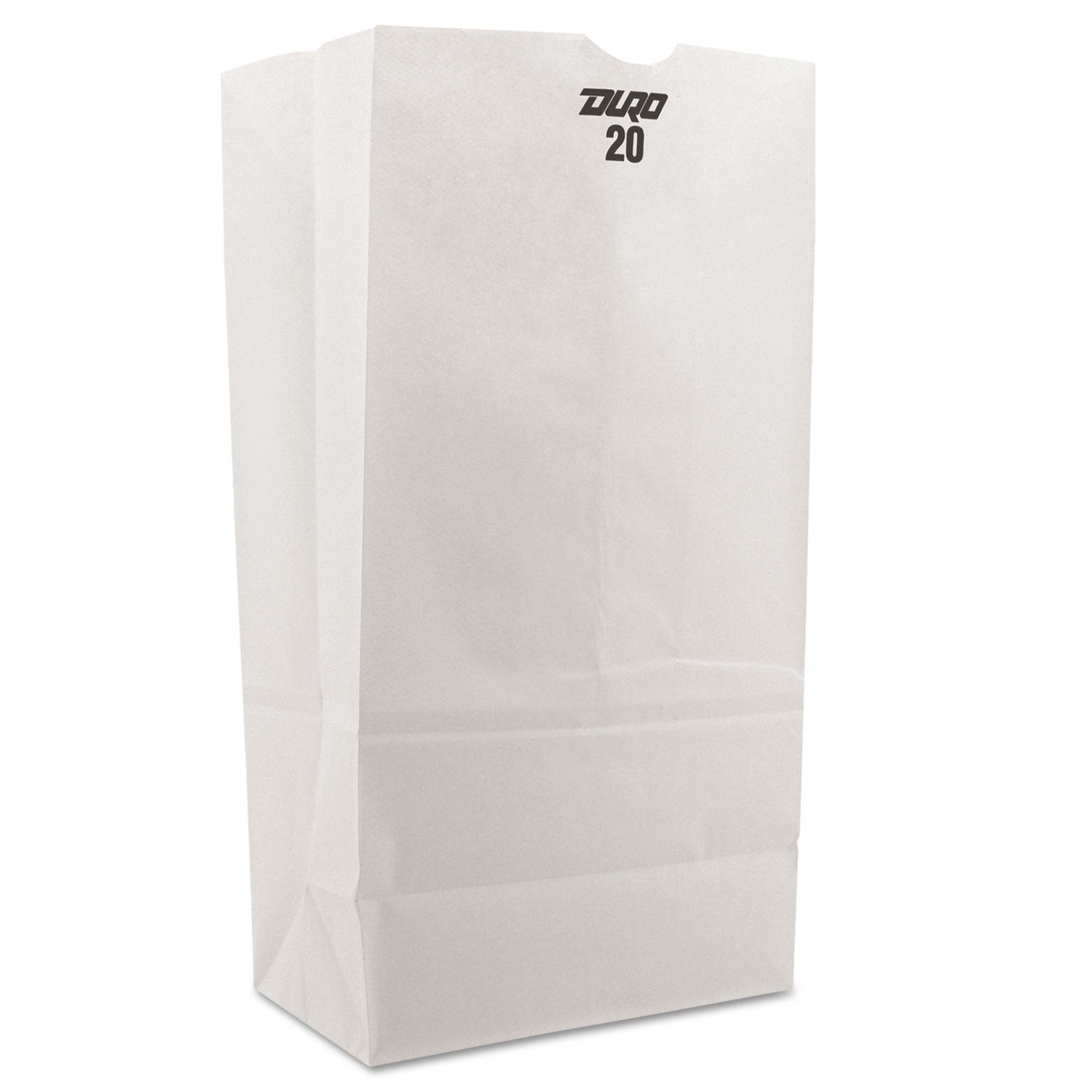 General 20 Paper Grocery Bag 40-pound White Standard 8 1/...