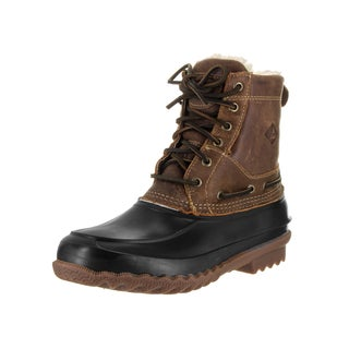 Sperry Top-Sider Men's Decoy Brown Leather Shearling Boots