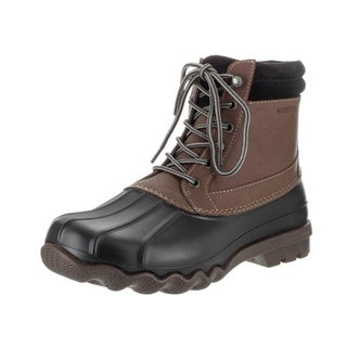 Sperry Top-Sider Men's Brewster Brown and Black Leather and Rubber Waterproof Boots