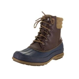 Sperry Top-Sider Men's Cold Bay Brown and Navy Leather Boots
