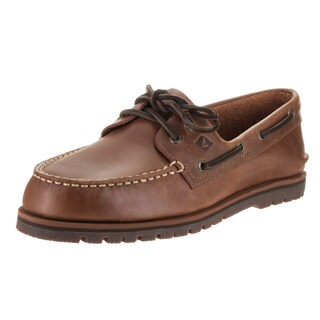 Sperry Top-Sider Men's Brown Leather Authentic Original Mini Lug 2-Eye Boat Shoe