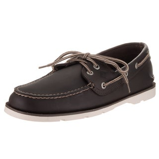 Sperry Top-sider Men's Leeward Brown Leather 2-eye Boat Shoes
