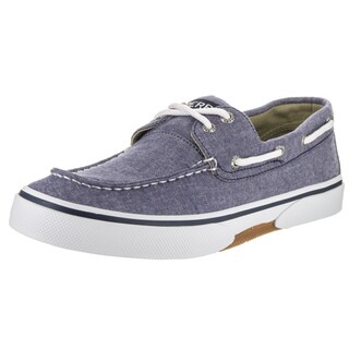 Sperry Top-Sider Men's Halyard 2-Eye Blue Textile Boat Shoes