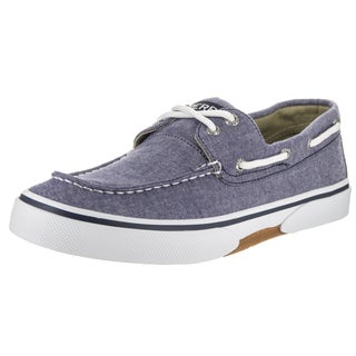Sperry Top-Sider Men's Halyard 2-Eye Blue Textile Boat Shoes