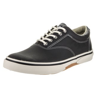 Sperry Top-Sider Men's Halyard CVO Black Leather Casual Shoes